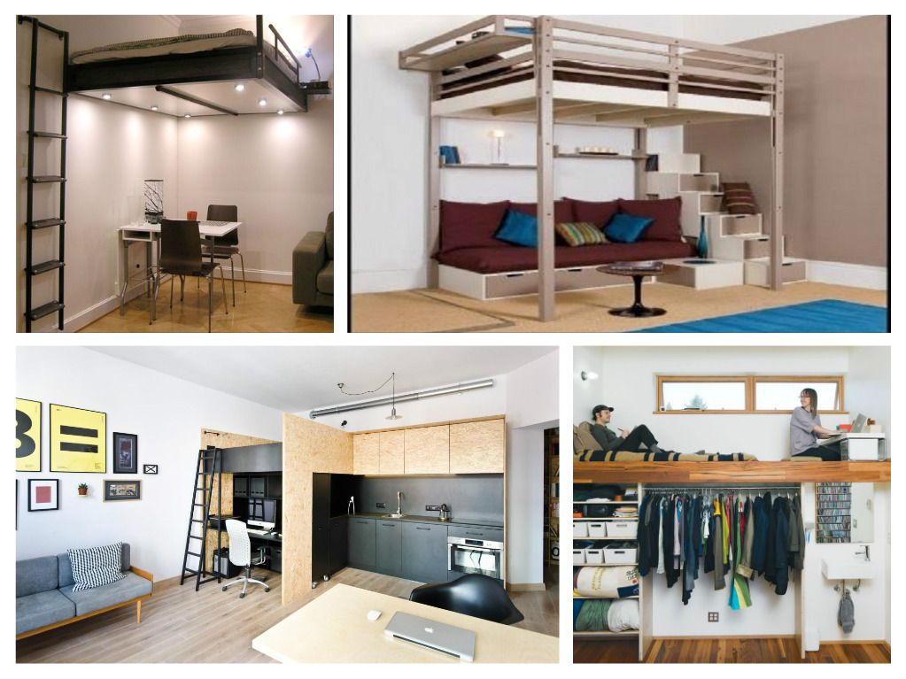 Loft beds are essential for living in a tiny