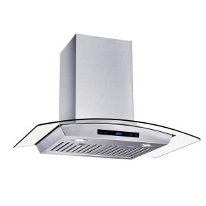 Vissani 30 In W Convertible Glass Wall Mount Range Hood With 2 Charcoal Filters In Stainless Steel Wg1276 The Home Depot Wall Mount Range Hood Range Hood Glass Range Hood