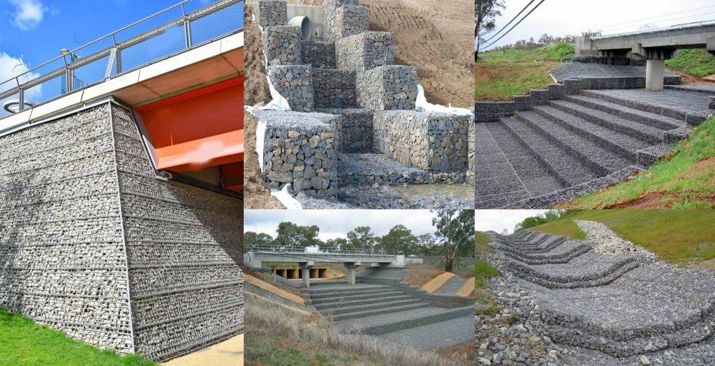 A Gabion From Italian Gabbione Meaning Big Cage From Italian Gabbia And Latin Cavea Meaning Cage Is A C In 2020 Civil Engineering Retaining Structure Flood Wall