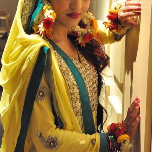 Mehndi Flower Jewelry Houston : Pakistani bride my dholki look fresh flower jewelry by