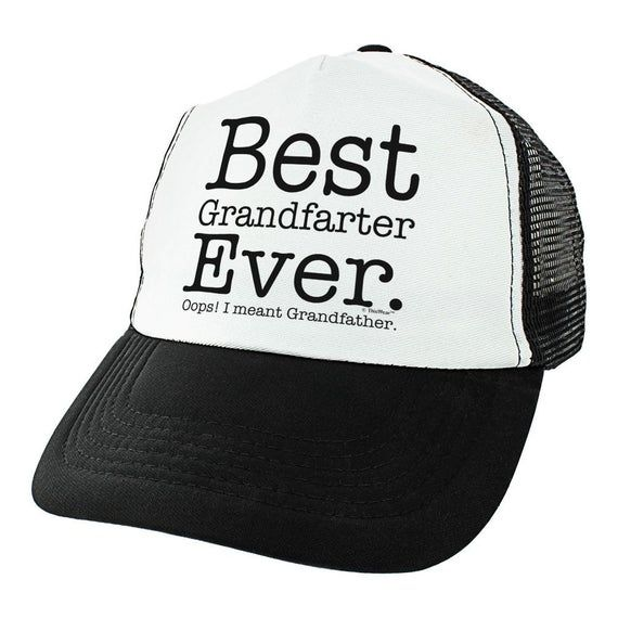 Funny Grandpa Hat Best Grandfarter Ever Grandpa Birthday Gifts from Grandchildren Humorous Grandpa Trucker Hat - THT-0009