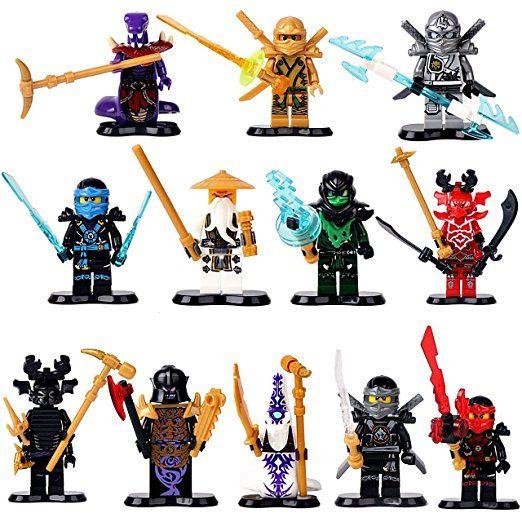12 ninjago figuren lord garmadon titan zane jay cole kai sensei wu morro b se ninja pyhtor chop. Black Bedroom Furniture Sets. Home Design Ideas