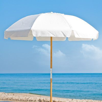 Frankford Umbrellas 7 5 Ft Diameter Fibergl Commercial Grade Beach Umbrella With Ashwood Center Pole Fabric