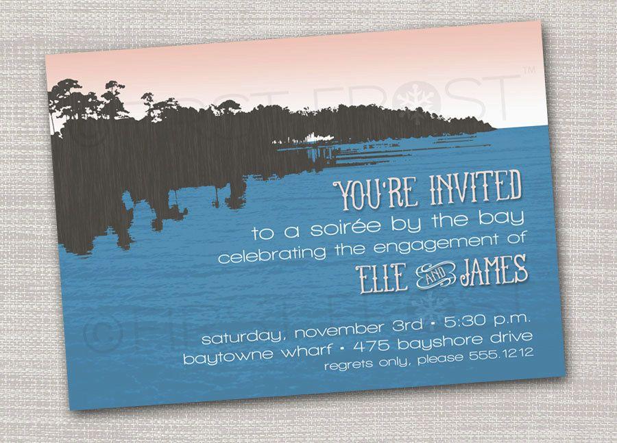 Printable Bay Side Lake Side Bayou Party Invitation - Rehearsal ...