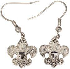 Universal Emblem Pierced Earrings Scouts Wood Badge