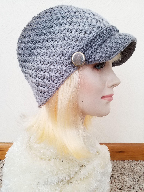 Crochet Newsboy Hat Womens Knit Newsboy Hat Brimmed Hat Knit Etsy Crochet Newsboy Hat News Boy Hat Knitted Hats
