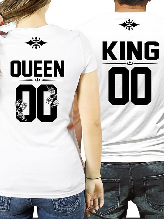 8117848bd2 ROYALTY KING and QUEEN couples t-shirts, King queen shirts, matching  couples shirts, king and queen t shirts, anniversary gift ideas, CUSTOM  NUMBER King and ...