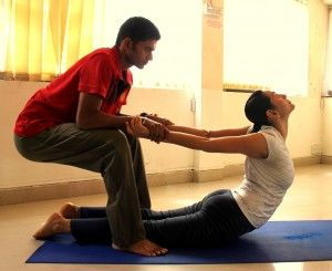 I Could Really Use A Partner To Stretch With Partner Yoga Stretches Partner Yoga Poses Partner Yoga Couples Yoga