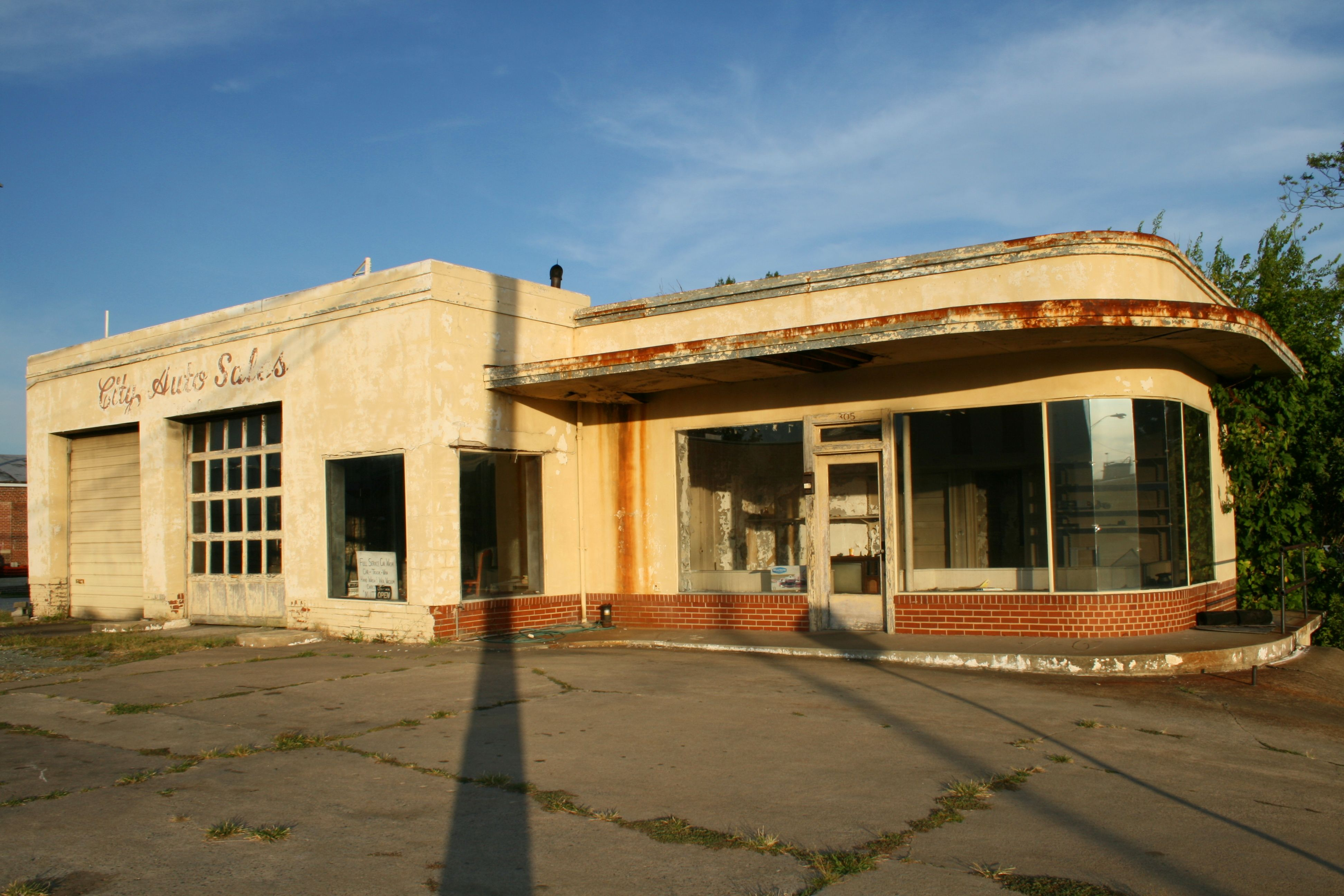 Abandoned Building Formerly City Auto Sales In