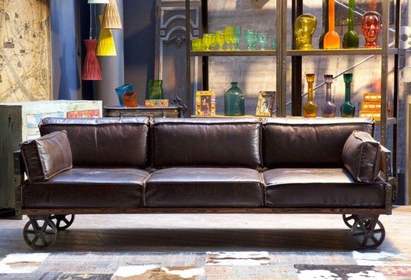 50 Idees Deco De Canape Moderne Canape Style Industriel Deco De Canape Idee Deco