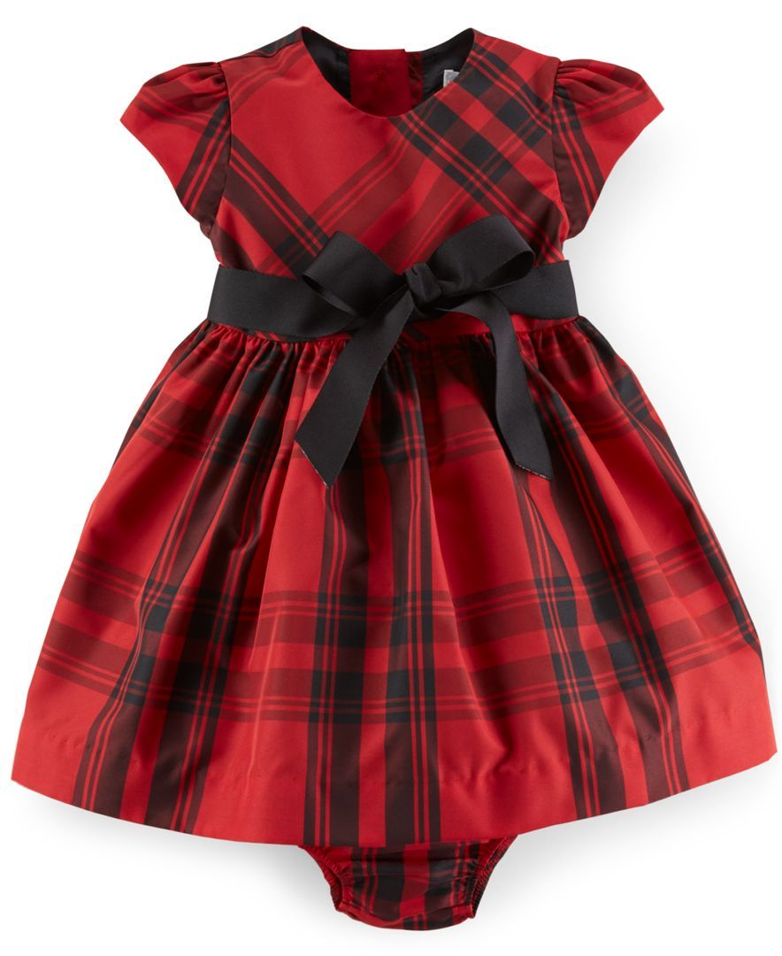 6174fddd2 Ralph Lauren Baby Girls  Plaid Fit   Flare Dress