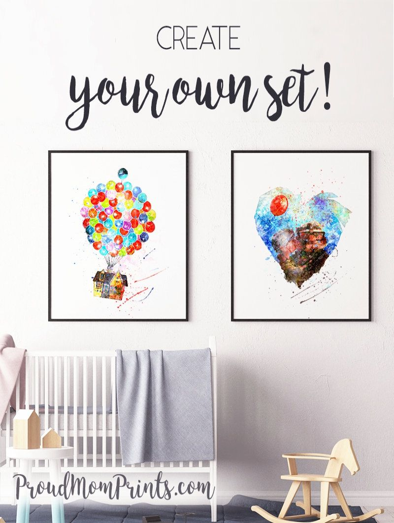 Up Movie Art Up Pixar Nursery Wall Art Up Movie Poster Up Movie Poster Up Wall Art Up Movie Printable Movie Wall Art Posters Art Prints Poster Prints