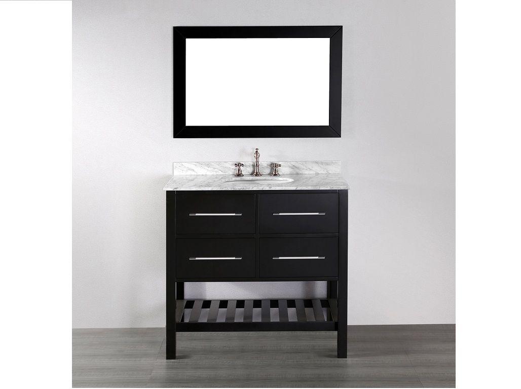 36 Inch Contemporary Bathroom Vanity Dark Bathroom Furniture