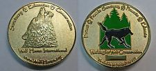 Wolf Haven International, Trackable Geocoin, Series 3 (2012 Gold color)