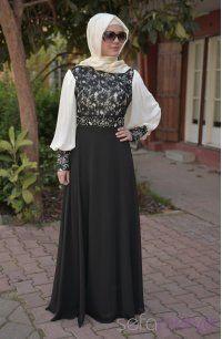 80763316beef1 Sefamerve, Sefamerve Abiye Elbiseler PDY 3243-05 Siyah   moda in ...
