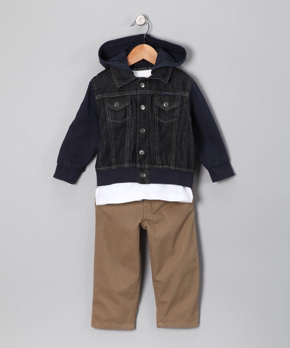 33d8b56e7292 Navy Denim Jacket Set by Calvin Klein on  zulily  fall essentials ...