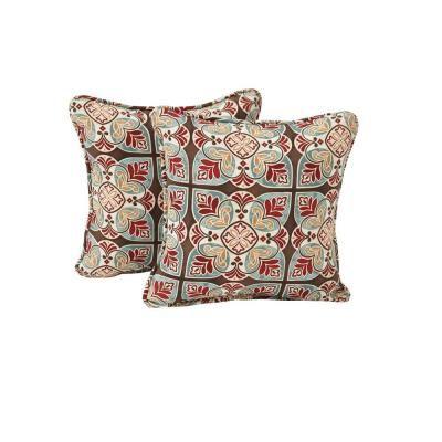Hampton Bay Fenton Outdoor Throw Pillow 40PackDY40TP The Simple Home Depot Decorative Pillows