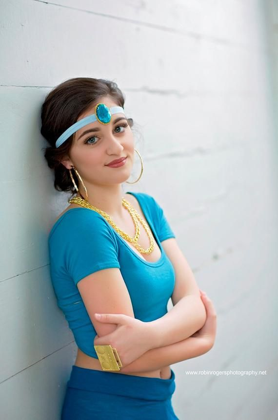 Tiger Princess Wig Jasmine Aladdin Ribbon Jewel Costume Cosplay Adult Halloween