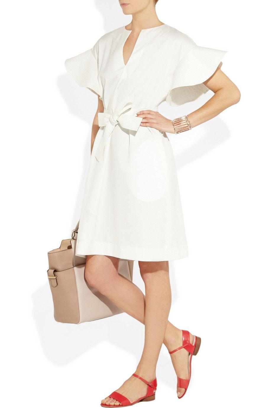 Chloé Rufflesleeve grosgrain dress