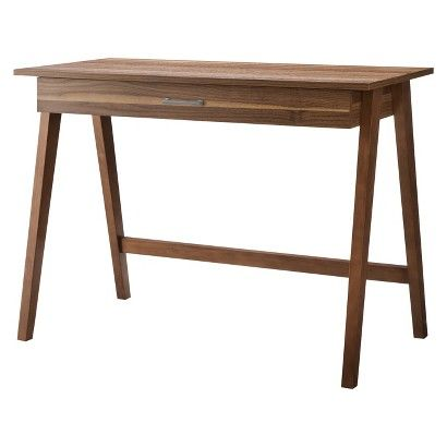 Paulo Wood Writing Desk With Drawer Project 62 Writing Desk With Drawers Walnut Desks Desk With Drawers