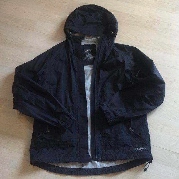EUC L.L. Bean rain jacket Excellent condition - black ll bean rain jacket L.L. Bean Jackets & Coats