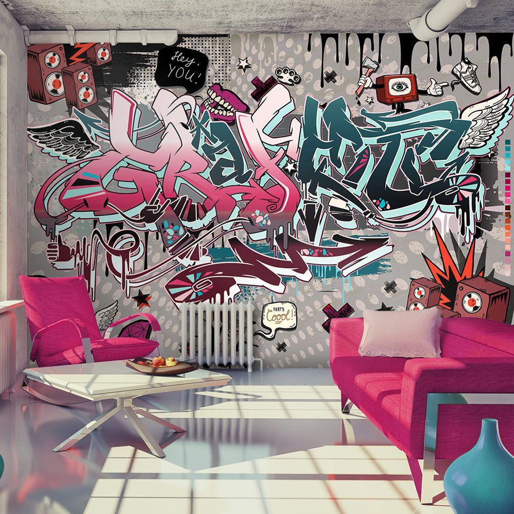 huge wall mural photo wallpaper non woven art graffiti. Black Bedroom Furniture Sets. Home Design Ideas