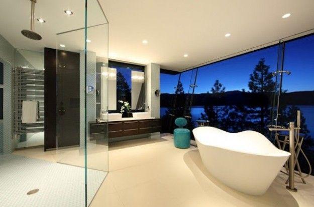 Case di lusso il bagno della lake house dream home by mark