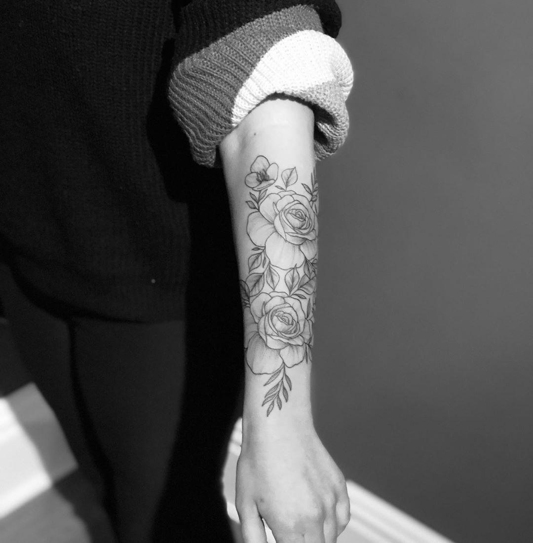 "Chantel Marie on Instagram: ""🌸 #tattoo #tattoos #tattooed #tattooedgirls #tattooideas #ink #inked #inkedup #inkedgirls #inkedbabes #inkaddict #inkedandsexy #inkstagram…"""