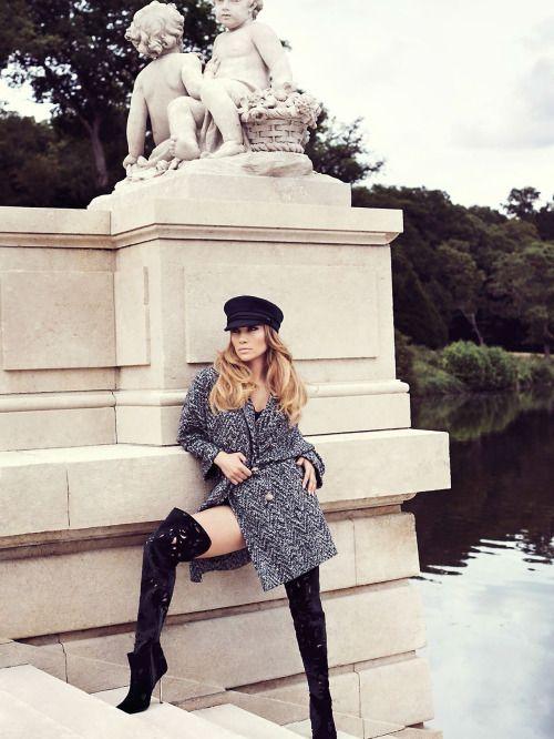 Jennifer Lopez in Versace for Elle 2014