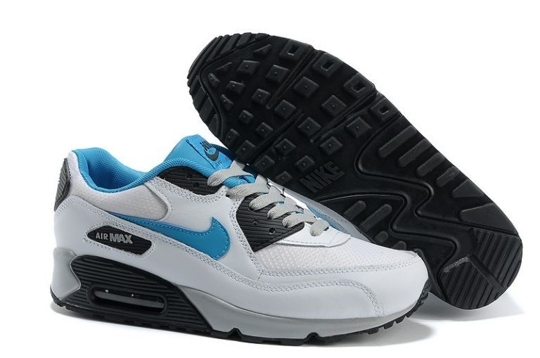 785c5c96cdc5 Mens Nike Air Max 90 Essential White Neo Turquoise Obsidian Trainers ...