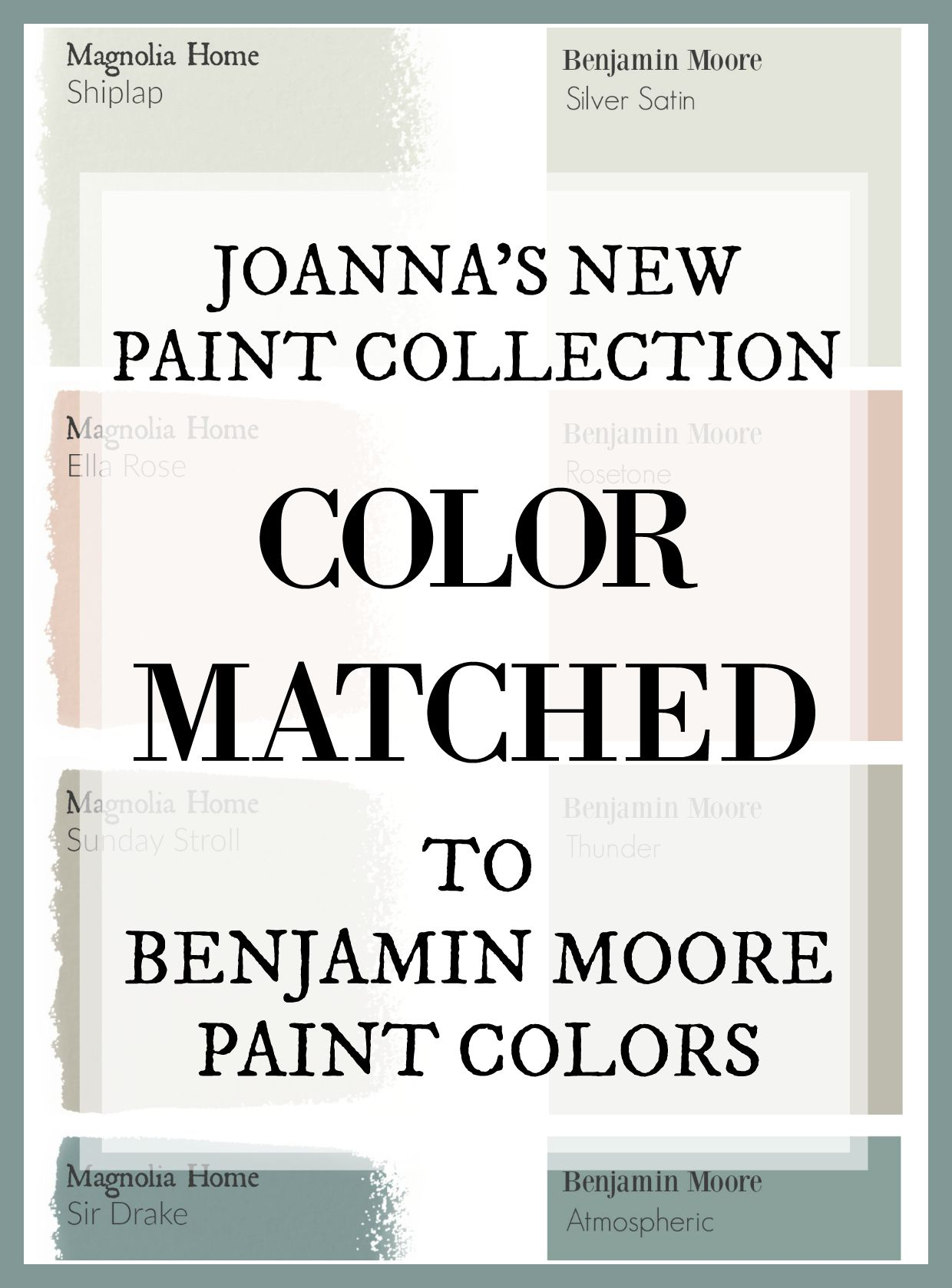 Fixer Upper Paint Colors: Magnolia Home Paint Color Matched to Benjamin Moore - The Weathered Fox