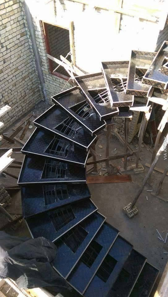 Slabless stair reinforcing work process continue till cover and concerte salvabrani also best construction design images in rh pinterest