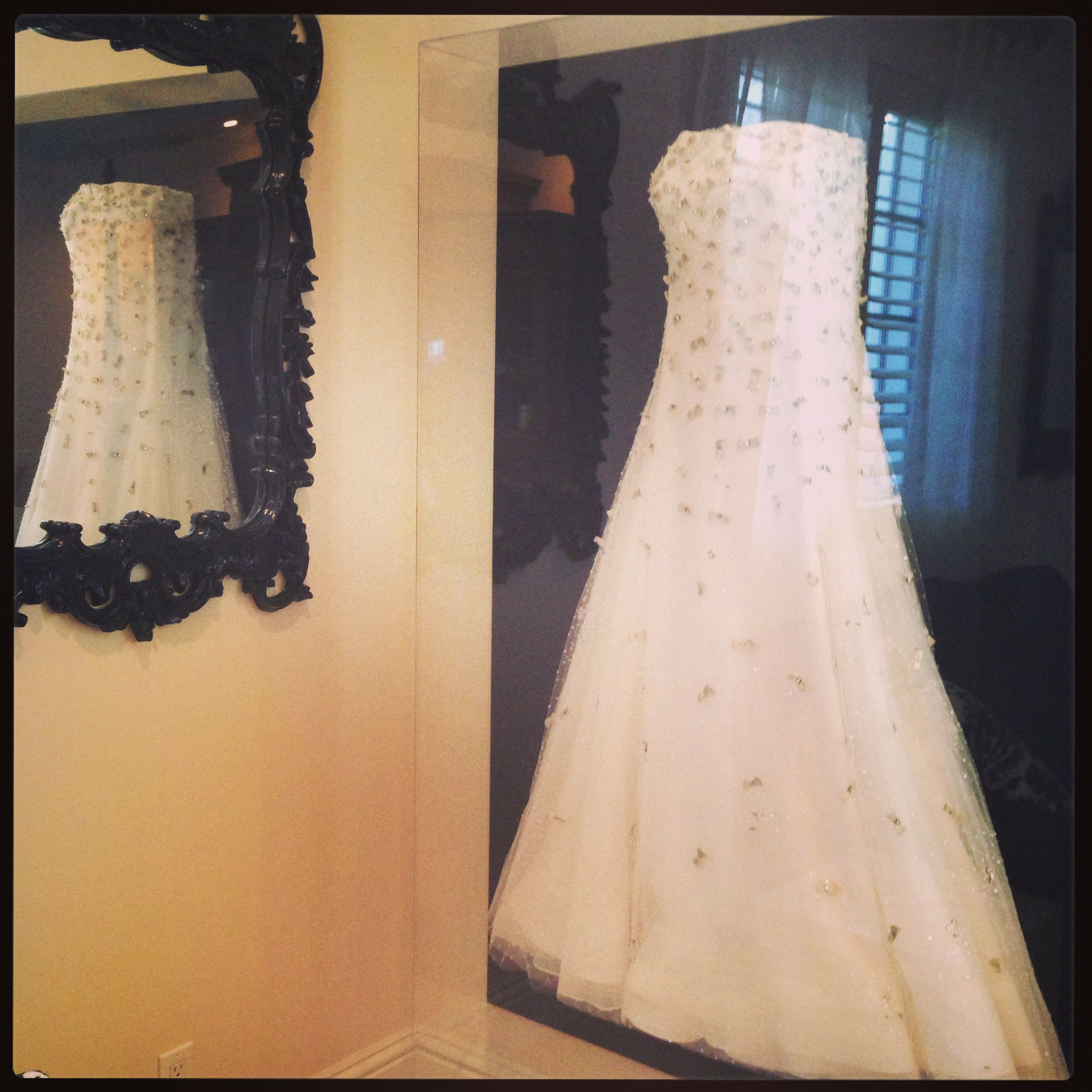 outrageous custom picture framing frame wedding dress