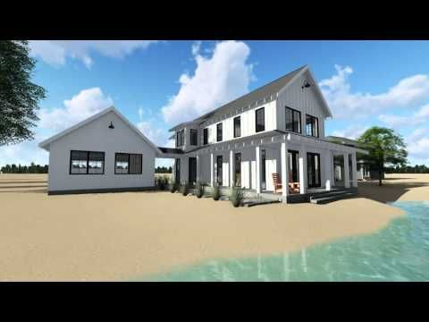 Canton a 1 5 story modern farmhouse cabin plan by advanced house plans