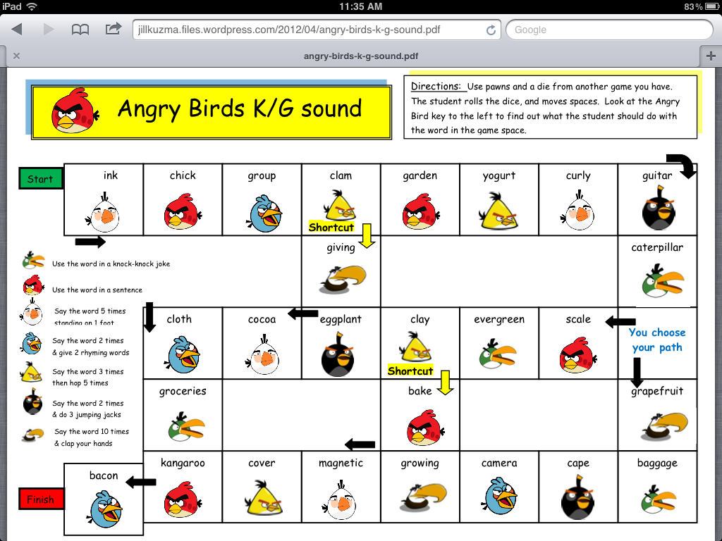 Angry Birds K And G