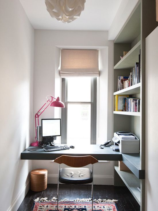 workspace study room desk furniture, home office, cabinets, lighting ...