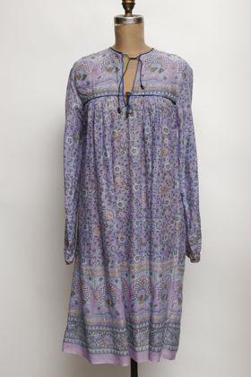 70s Indian cotton print dress