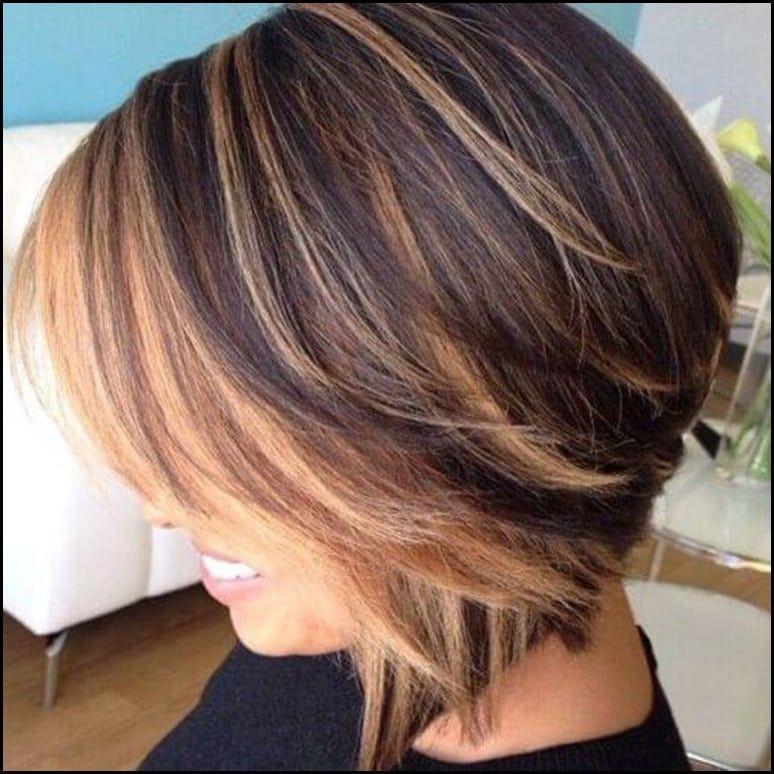 50 Stilvolle Vorschlage Fur Braune Haare Mit Blonden Strahnen Meine Frisuren Bob Frisur Haarschnitt Bob Bob Frisuren Hinterkopf
