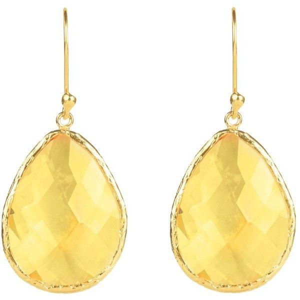 Latelita London Gold Single Drop Earring Citrine Hydro tx8gWLXE