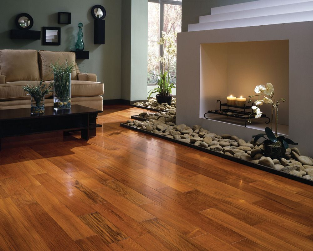 16 Contemporary Living Room Design Inspirations 2012: wood flooring ideas for living room