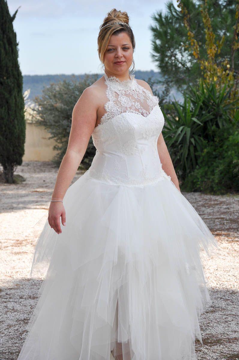 27ce196ce6387 robe de mariee grande taille | pics bridal | Robe mariée grande ...