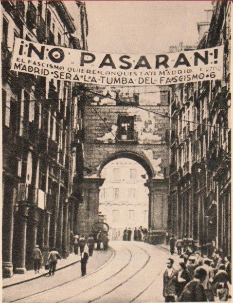 No Pasaran - La Passionaria's famous slogan