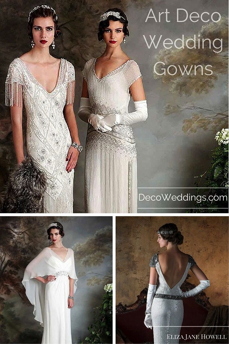Incredible art deco, 1920s and 1930s style wedding gowns from design ...