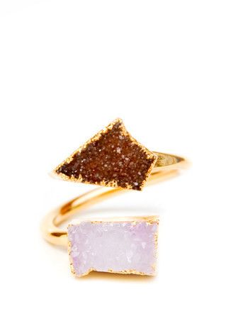 Double Drusy Ring   leif shop