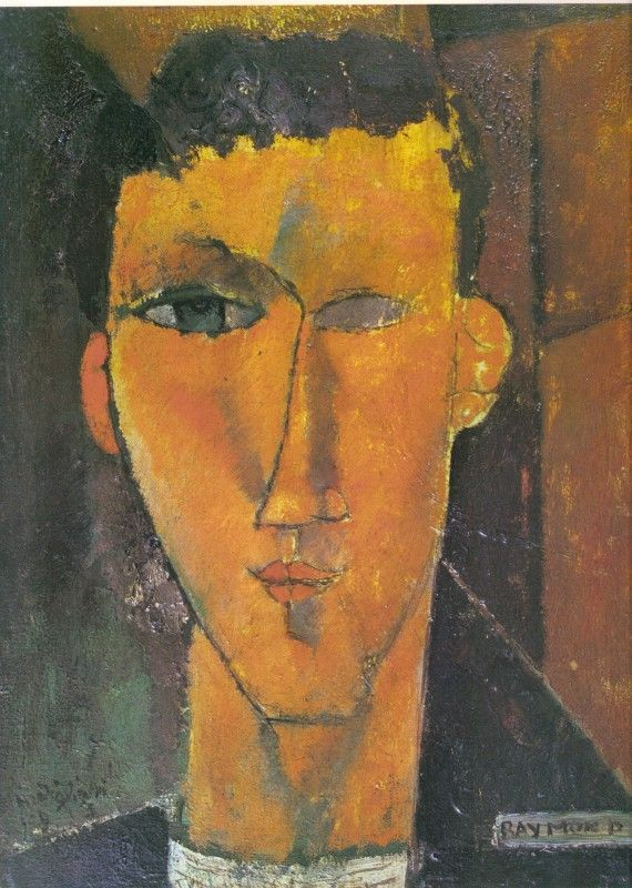 Portrait of Raymond Radiguet by Amedeo Modigliani (Italian 1884-1920)....poet and novelist....a prodigy...certainly to Jean Cocteau, anyway....