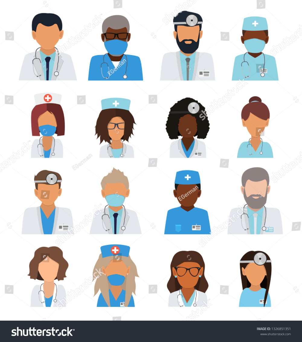Hospital Team Hospital Icon Cartoon Illustration