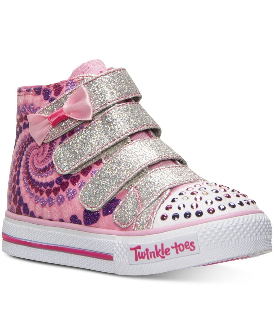 Skechers Toddler Girls' Twinkle Toes: Shuffles Little