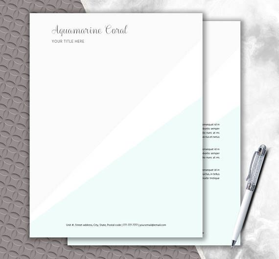 Personalized letterhead diy stationery writing paper personalized letterhead diy stationery writing paper spiritdancerdesigns Images