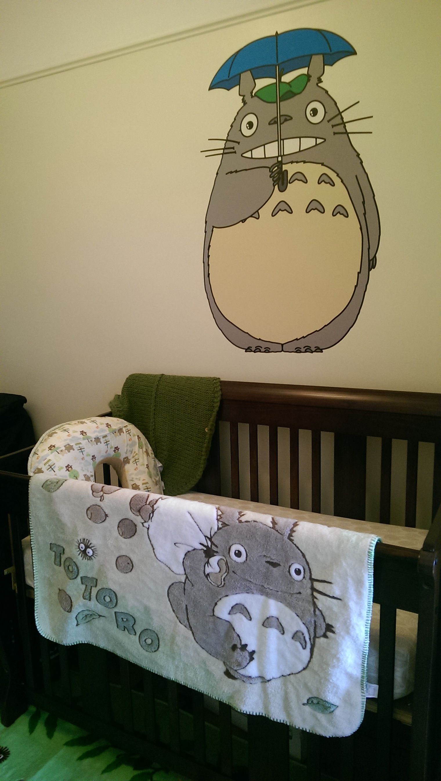 Totoro Decal From Etsy Very Easy To Put Up I Am NOT Crafty And - Instructions on how to put up a wall sticker