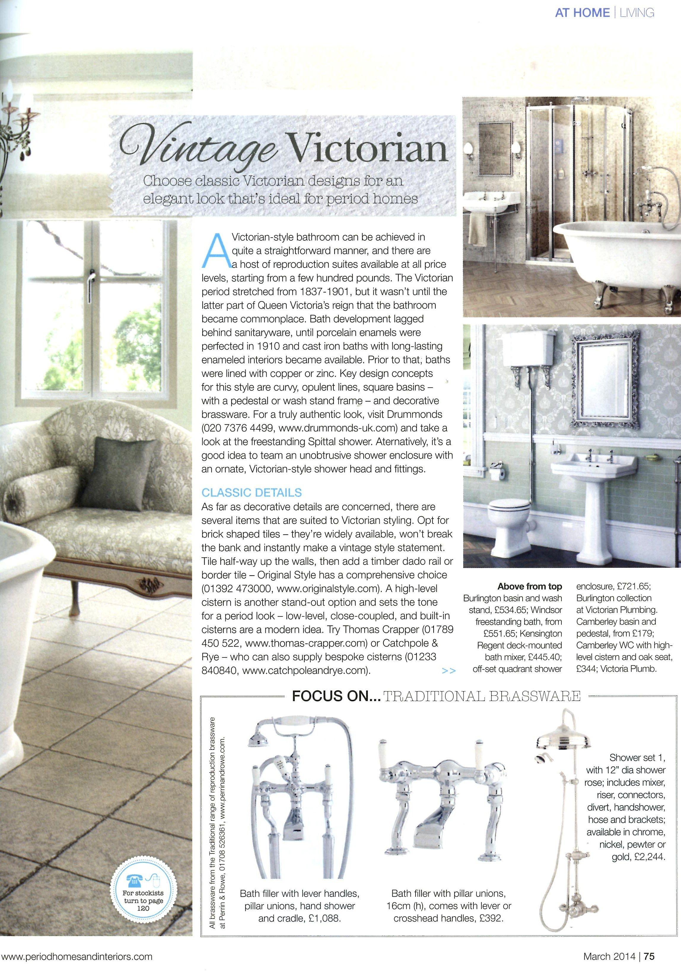 Classic bathroom looks from Drummonds drummonds-uk.com Period Homes ...